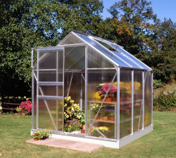 Serre de jardin HALLS Popular 3,80 m2 + polycarbonate 4 mm