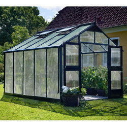 Serre de jardin JULIANA Premium anthracite 10,9 m² + polycarbonate 10 mm