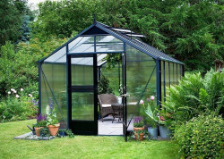 Serre de jardin JULIANA Premium anthracite 13 m2 + polycarbonate 10 mm