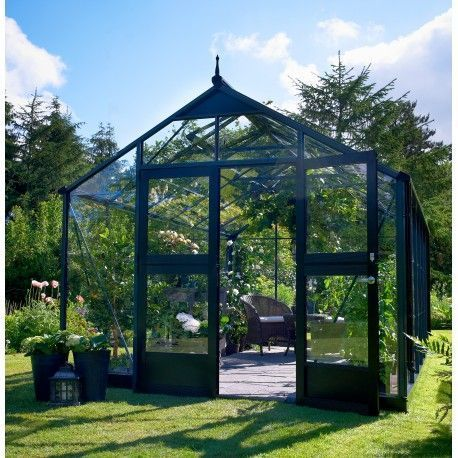 Serre anthracite 16,2m² en polycarbonate 10mm Gardener - Juliana